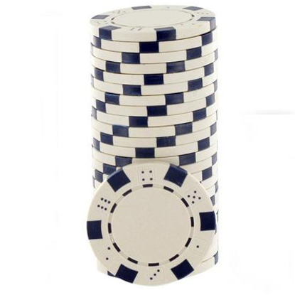 Imagen de Paquete 25 Fichas poker sin Valores de Dice