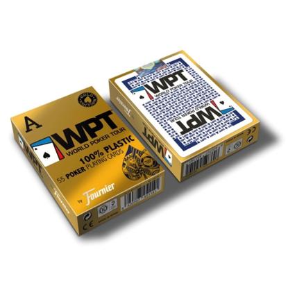 Imagen de Naipe Poker Plastico WPT GOLD EDITION